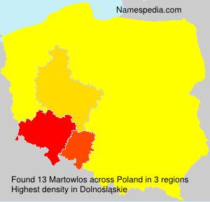 Familiennamen Martowlos - Poland