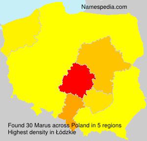 Familiennamen Marus - Poland
