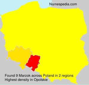 Surname Marzok in Poland