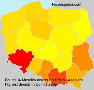 Surname Maselko in Poland