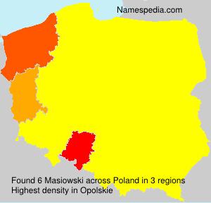 Surname Masiowski in Poland
