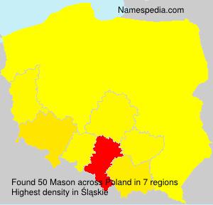 Surname Mason in Poland