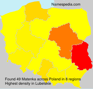 Surname Matenka in Poland
