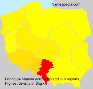 Surname Materla in Poland