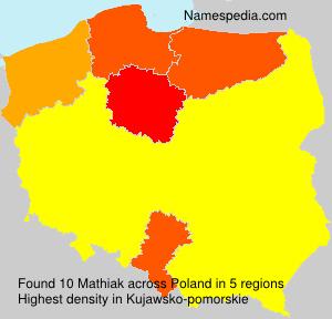 Surname Mathiak in Poland