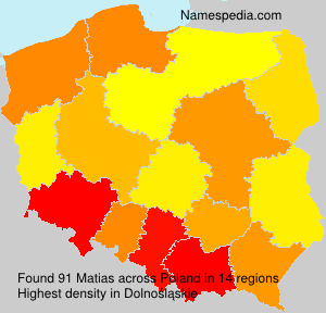 Surname Matias in Poland