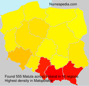 Surname Matula in Poland