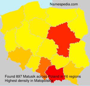 Surname Matusik in Poland