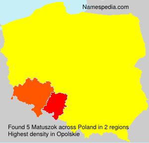 Surname Matuszok in Poland