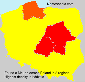 Surname Maurin in Poland