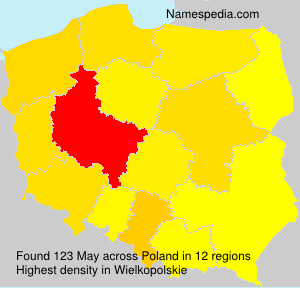 Surname May in Poland