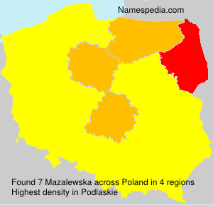 Surname Mazalewska in Poland