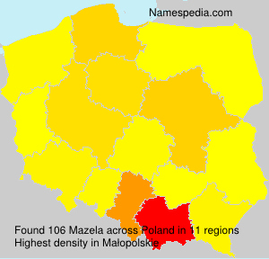 Surname Mazela in Poland