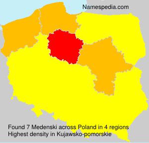 Surname Medenski in Poland