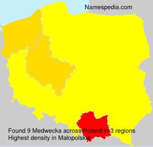 Surname Medwecka in Poland