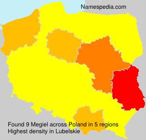 Familiennamen Megiel - Poland