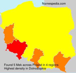 Surname Mek in Poland