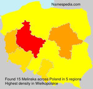 Surname Melinska in Poland