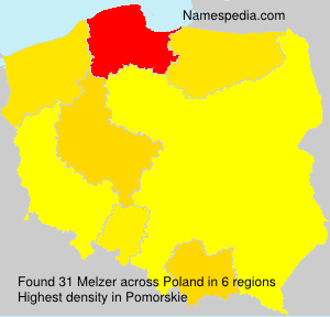 Surname Melzer in Poland
