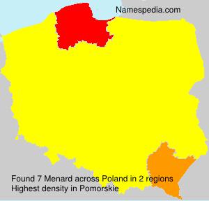 Surname Menard in Poland