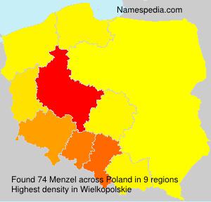 Surname Menzel in Poland