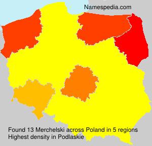 Surname Merchelski in Poland