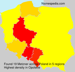 Surname Metzner in Poland