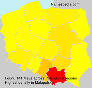 Surname Meus in Poland