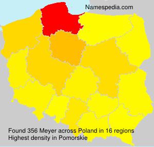 Surname Meyer in Poland