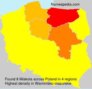 Familiennamen Miakota - Poland