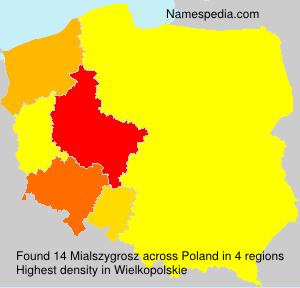 Surname Mialszygrosz in Poland