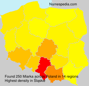 Surname Miarka in Poland