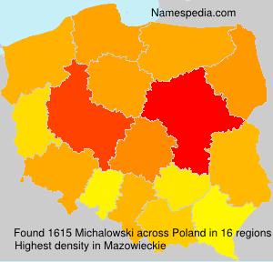 Familiennamen Michalowski - Poland