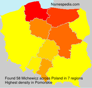 Surname Michewicz in Poland