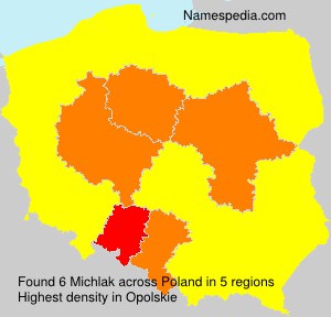 Surname Michlak in Poland