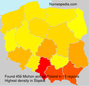 Surname Michon in Poland