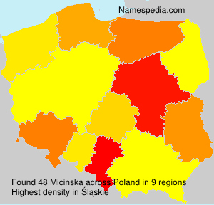 Surname Micinska in Poland
