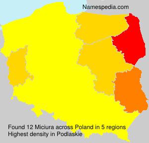 Familiennamen Miciura - Poland