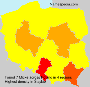 Surname Micke in Poland