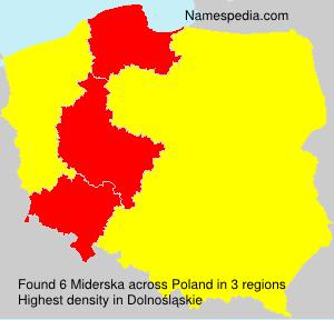 Surname Miderska in Poland