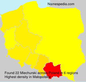 Surname Miechurski in Poland