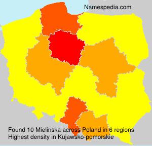 Surname Mielinska in Poland