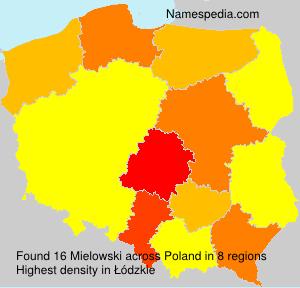 Familiennamen Mielowski - Poland