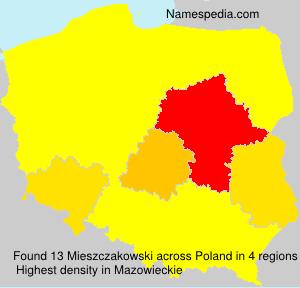 Familiennamen Mieszczakowski - Poland