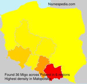 Familiennamen Migo - Poland