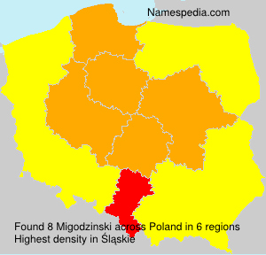 Surname Migodzinski in Poland