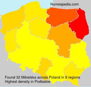 Familiennamen Mikielska - Poland