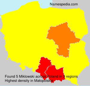 Surname Miklowski in Poland