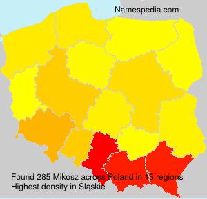 Surname Mikosz in Poland