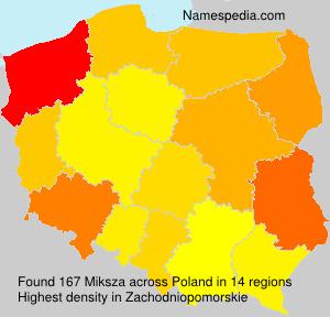 Surname Miksza in Poland